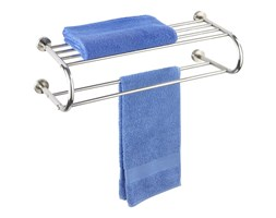 Wieszak na ręczniki FASTRO + półka łazienkowa, 2 w 1, WENKO