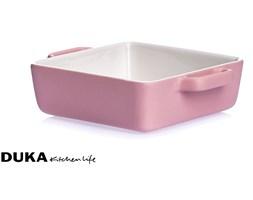 Ceramiczna forma do pieczenia 20x16x5 cm różowa