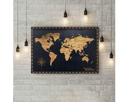 Obraz Mapa Świata 120cm x 90cm