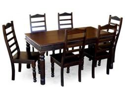 Antyczny drewniany stół do jadalni palisander