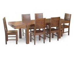 masywny drewniany stół do jadalni z palisandru