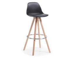 Hoker / Krzesło barowe PORFIO czarny