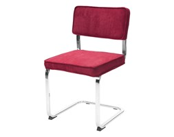 Krzesło SANDER, czerwone, tkanina, chrom, 22150-3