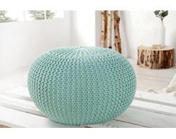 Puf/podnóżek Knitted Ball - miętowy