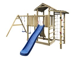 272483 Plac zabaw z drabiną, zjeżdżalnią i huśtawkami 516x450x270 cm, drewno
