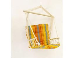 Krzesło hamakowe ogrodowe zoparciem i drewnianym