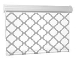 Nowoczesne Rolety w KASECIE designo - Ornament / Biały