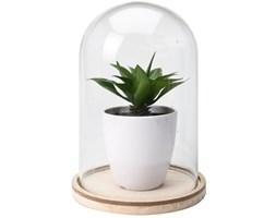 Sztuczna roślina pod szklaną kopułą wzór 2