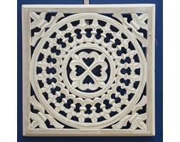 Panel ścienny 40cm x 40,5cm bielony_wzór 3