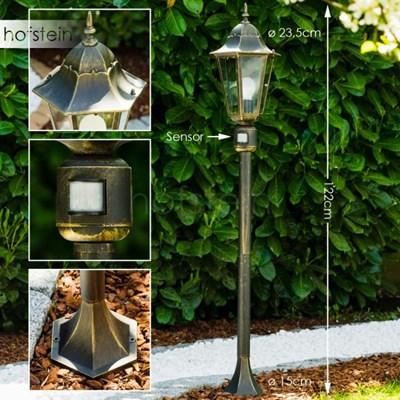 Bristol zewnętrzna lampa stojąca Mosiądz, Złoty, 1-punktowy - Nowoczesny/Design - Obszar zewnętrzny - Bristol - Czas dostawy: od 2-4 dni roboczych