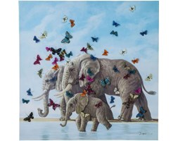 Obraz Touched Elefants with Butterflys