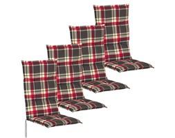42119 vidaXL Poduszki na krzesła ogrodowe 4 szt. 117x49 cm w kratę
