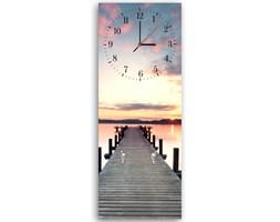Wieszak ozdobny z zegarem – pomost o zachodzie słońca, Deco Panel