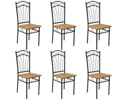 243191 vidaXL Krzesła jadalniane 6 szt., brązowe