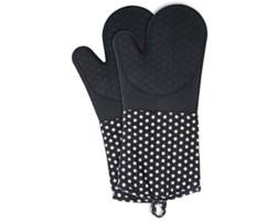 Zestaw 2 silikonowych rękawic kuchennych Wenko Oven Black