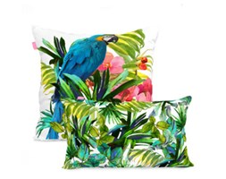Zestaw 2 poszewek na poduszki Blue Macaw