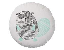 Okrągła poduszka z boberkiem (biała) Bloomingville