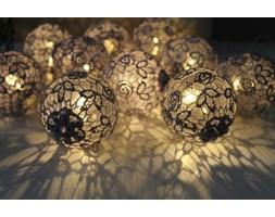 Koronkowe lampki - SZARE 10 sztuk