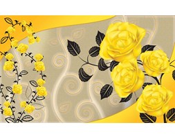 Roses Yellow Flowers Abstract Fototapeta