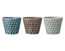 Bloomingville, Świeczniki ceramiczne - Petrol Brown Mint 3szt miętowy