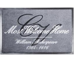BBG Most Welcome Home Grey 60x90cm doormat