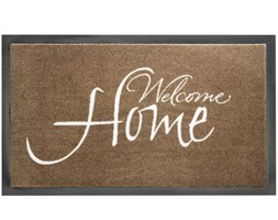 HT Welcome Home Taupe 45x75cm door mat