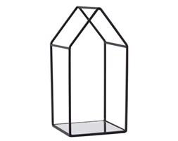 Czarny świecznik KJ Collection Melo,25,5cm