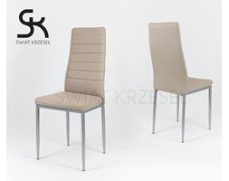 SK DESIGN KS001 BEIGE SYNTHETIC LETHER CHAIRON A PAINTED FRAME