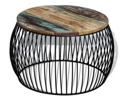 243300 vidaXL Stolik kawowy z drewna odzyskanego okrągły 68x35 cm