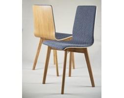 LUKA SOFT W krzesło dębowe, pikowana tkanina