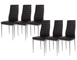 Allegro Zestaw 6 x czarne krzesło KS001 CZ mal wzmacniane