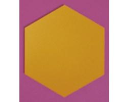 Panel ścienny hexagon musztarda - nuki