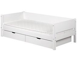 Łóżko dziecięce z poręczami i szufladami
