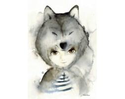 Plakat A3 Wilk - To The Moon - ostatnia sztuka