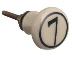Gałka ceramiczna z cyfrą 7