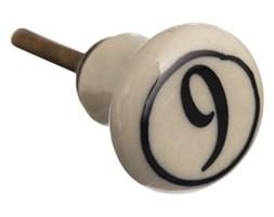 Gałka ceramiczna z cyfrą 9