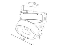 Reflektor QRLED move 230V EV LED WW track Aquaform