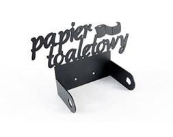Wieszak łazienkowy, Uchwyt na papier toaletowy - Szary metalic