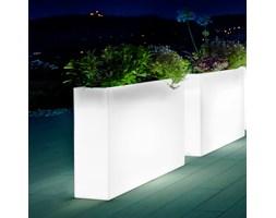 Donica podświetlana prostokątna wysoka KUBE CASETTA HIGH SLIM 80x25/70 - na zewnątrz