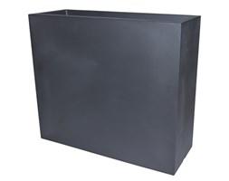 Donica prostokątna wysoka KUBE CASETTA HIGH SLIM 80x25/70 - czarny perła (grafit)