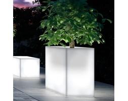 Donica podświetlana prostokątna wysoka KUBE CASETTA HIGH 100x40/70 - na zewnątrz