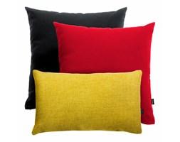 Czarno-czerwono-żółty zestaw poduszek dekoracyjnych Pram