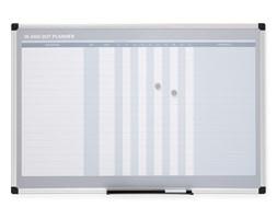 Tablica planu frekwencji, magnetyczna, 900x600 mm