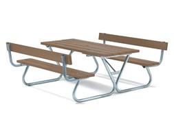 Ława piknikowa, 1800x1800 mm, brązowy