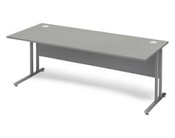Biurko proste FLEXUS, 1800x800 mm, laminat, szary