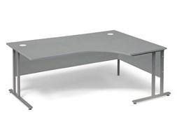 Biurko ergonomiczne FLEXUS, prawe, 1800x1200x720 mm, laminat, szary