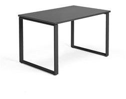 Biurko MODULUS, rama O, 1200x800 mm, czarny, czarny