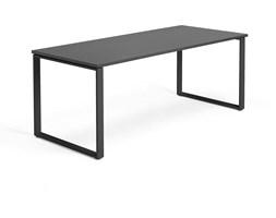 Biurko Modulus, rama O, 1800x800 mm, czarny, czarny