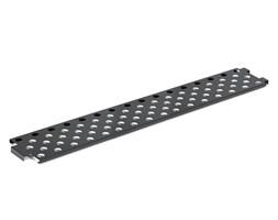 Półka na obuwie do ławki, 2000x275 mm, czarny