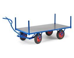 Wózek transportowy, 1500 kg, 2000x1000x460 mm, niebieski
